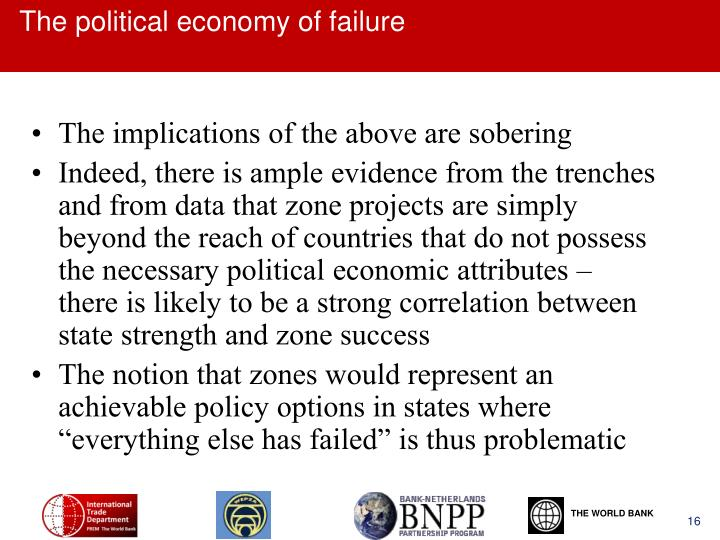 The political economy of failure