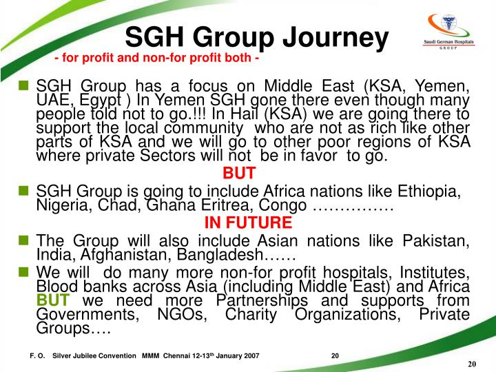 SGH Group Journey