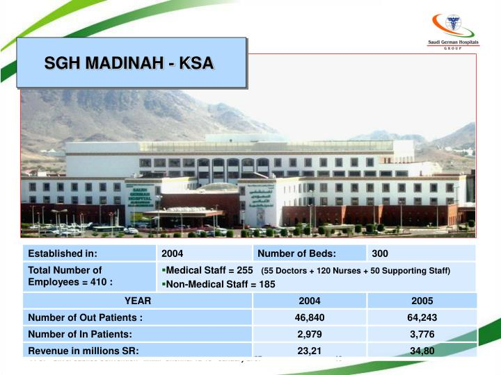 SGH MADINAH - KSA