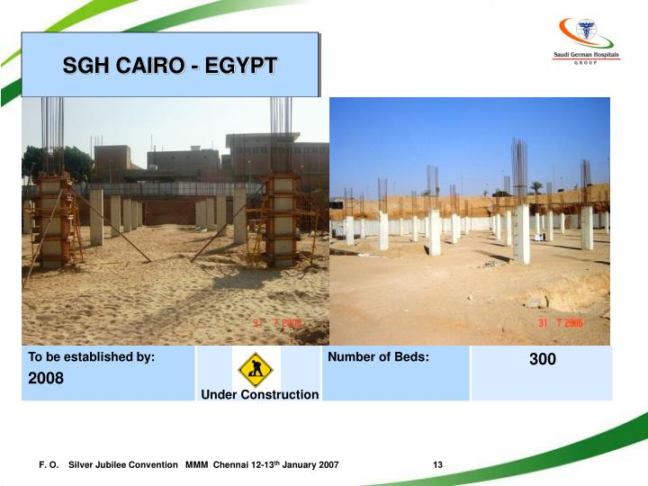 SGH CAIRO - EGYPT