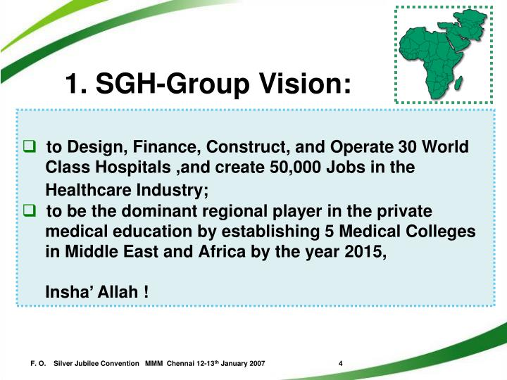 1. SGH-Group Vision: