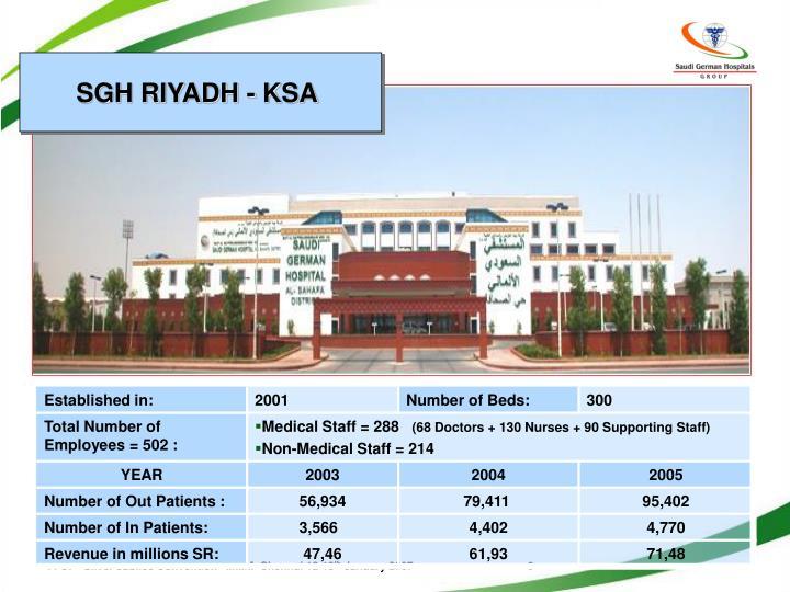 SGH RIYADH - KSA