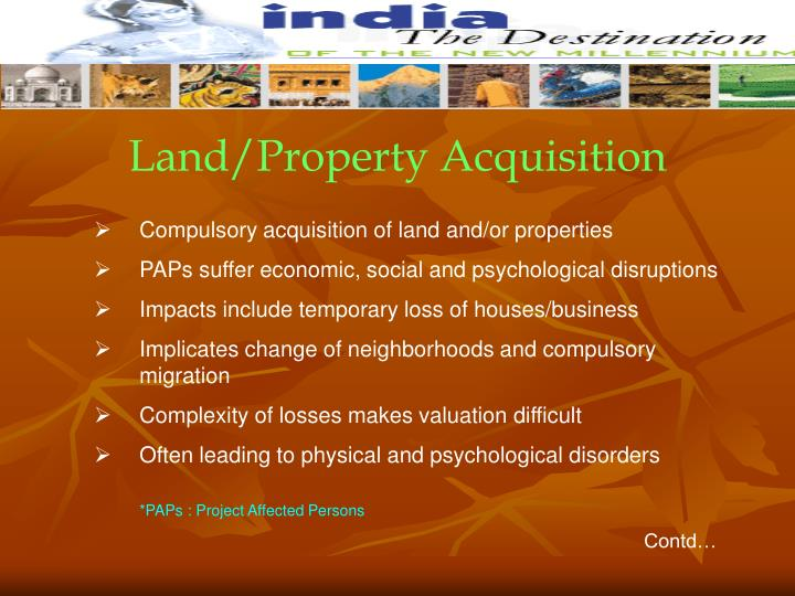 Land/Property Acquisition