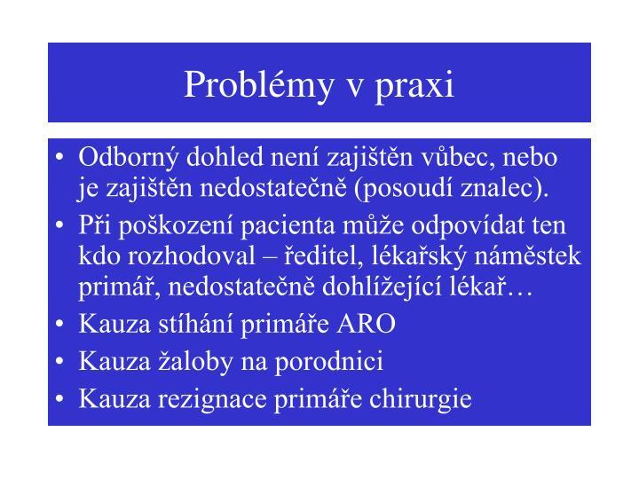 Problémy v praxi
