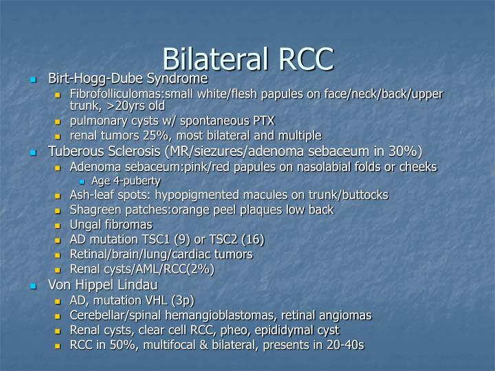 Bilateral RCC