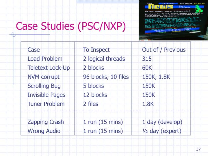 Case Studies (PSC/NXP)