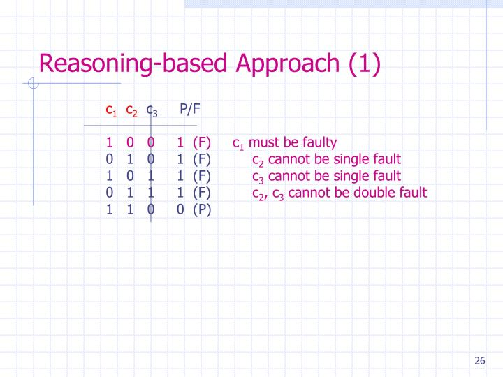 Reasoning-based Approach (1)