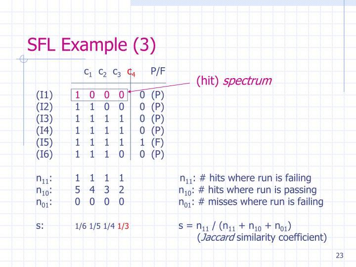 SFL Example (3)