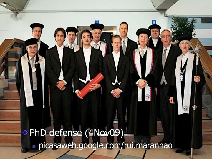 PhD defense (4Nov09)