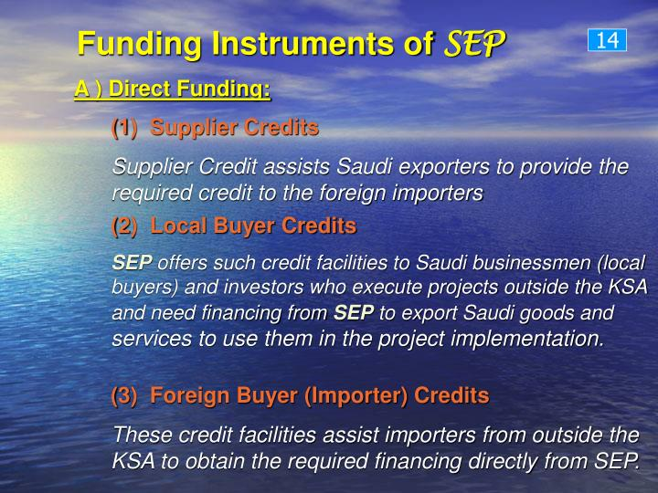 Funding Instruments of