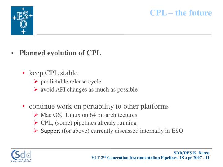 CPL – the future