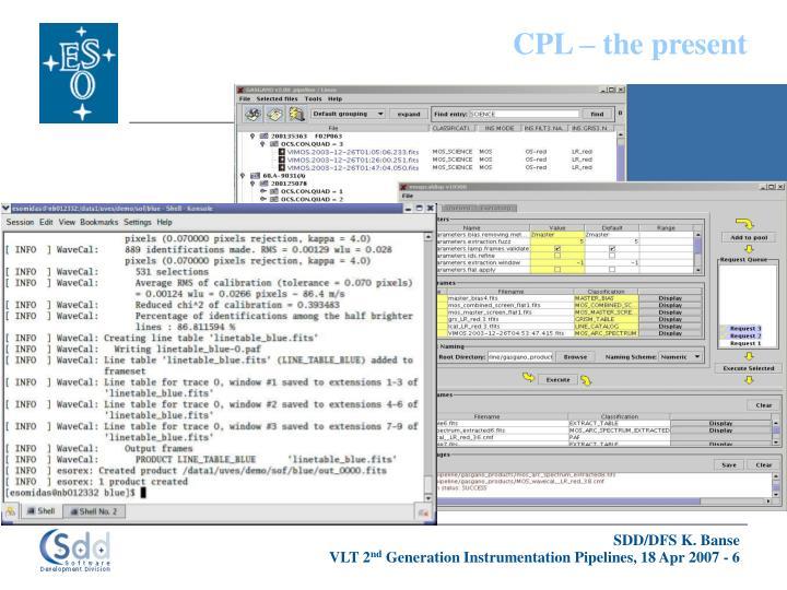 CPL – the present