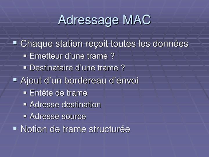 Adressage MAC
