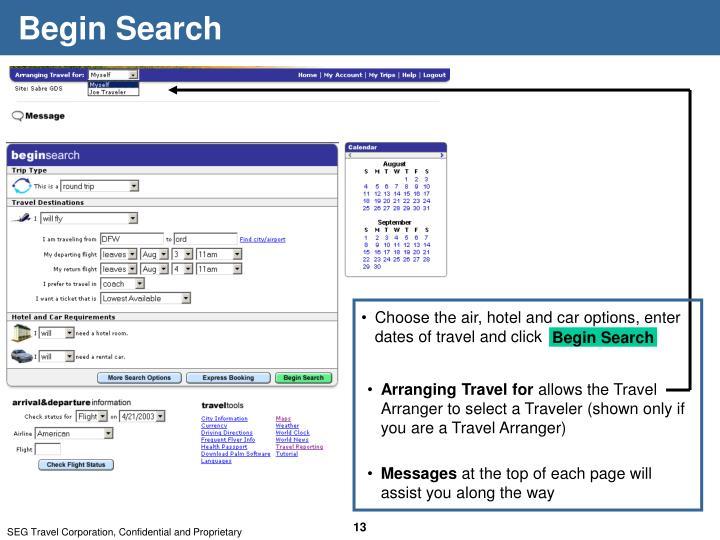 Begin Search