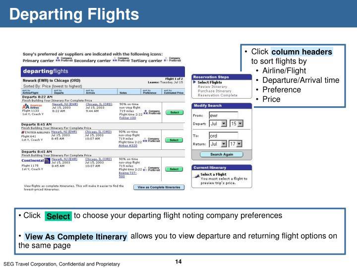 Departing Flights