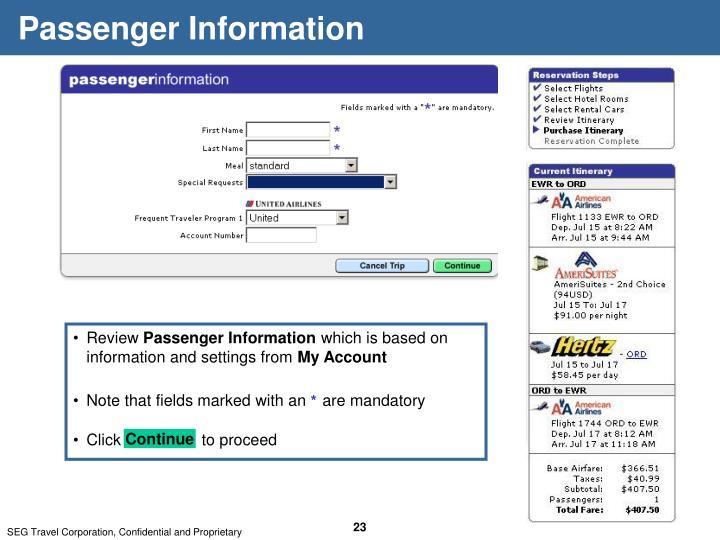 Passenger Information