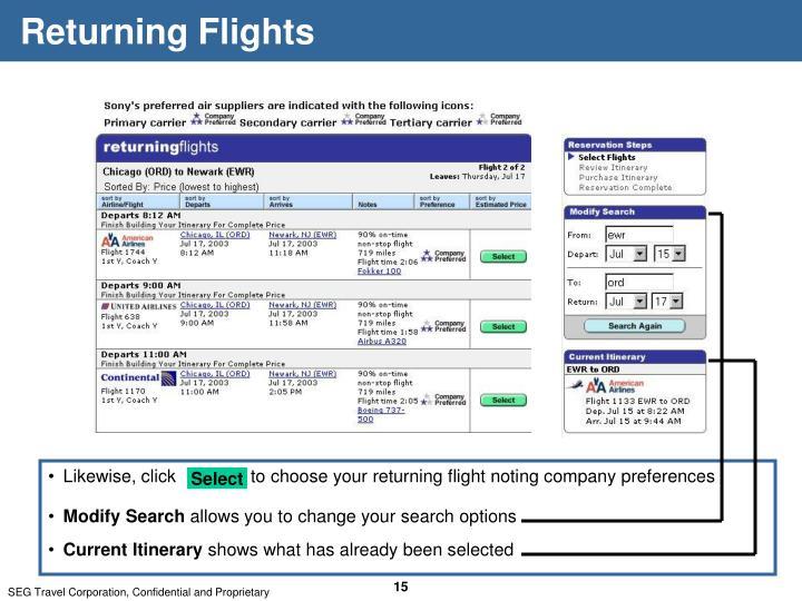 Returning Flights