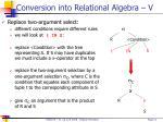 conversion into relational algebra v