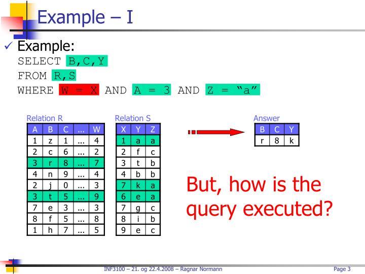 Example – I