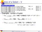 size of a select v
