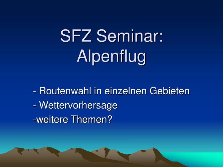 SFZ Seminar: