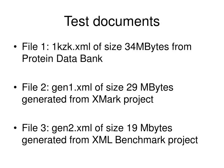 Test documents