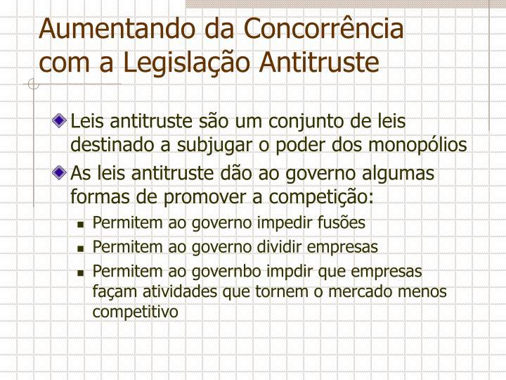 Aumentando da Concorrência com a Legislação Antitruste