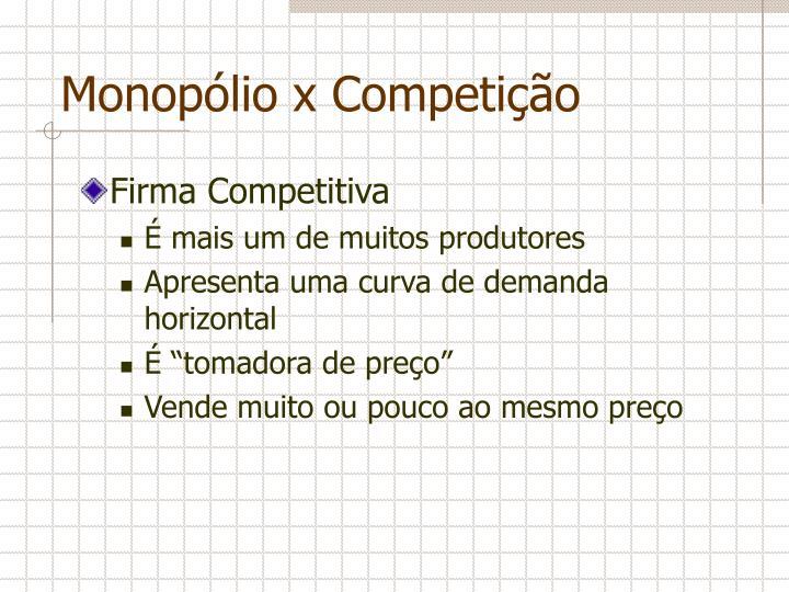 Monopólio x Competição