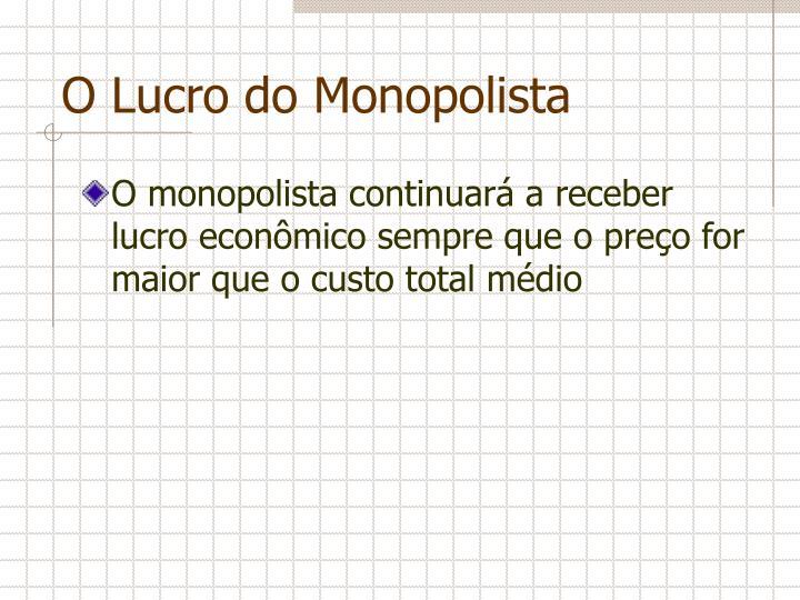 O Lucro do Monopolista