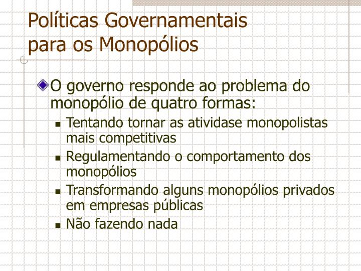 Políticas Governamentais