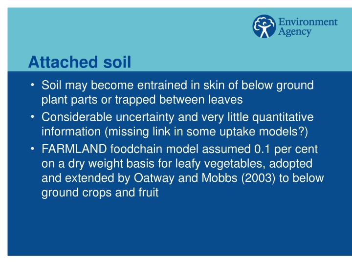 Attached soil