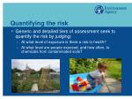 quantifying the risk