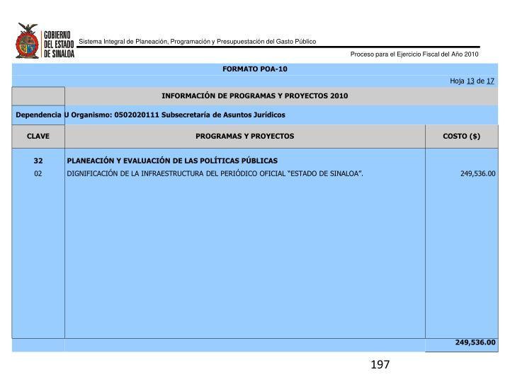 FORMATO POA-10