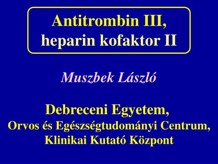 Antitrombin III,