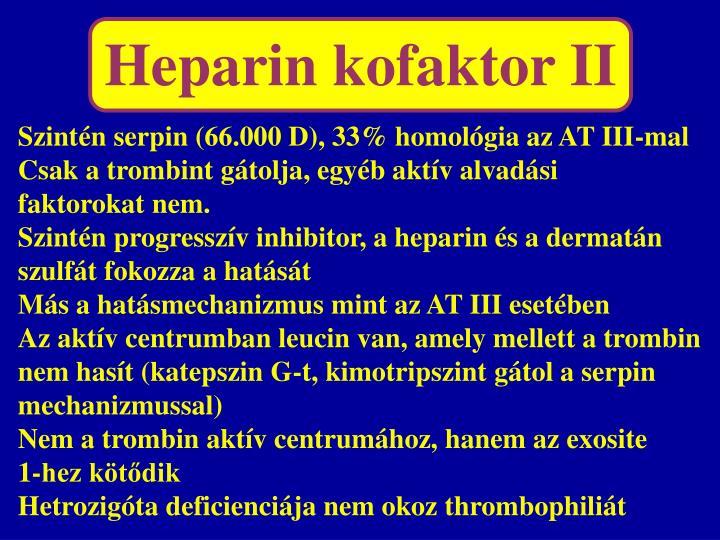 Heparin kofaktor II