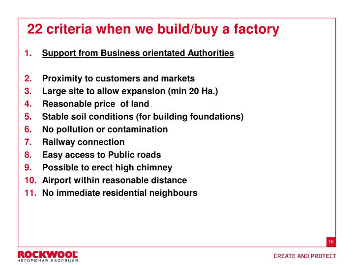 Support from Business orientated Authorities