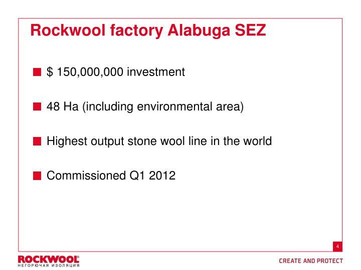 Rockwool factory Alabuga SEZ