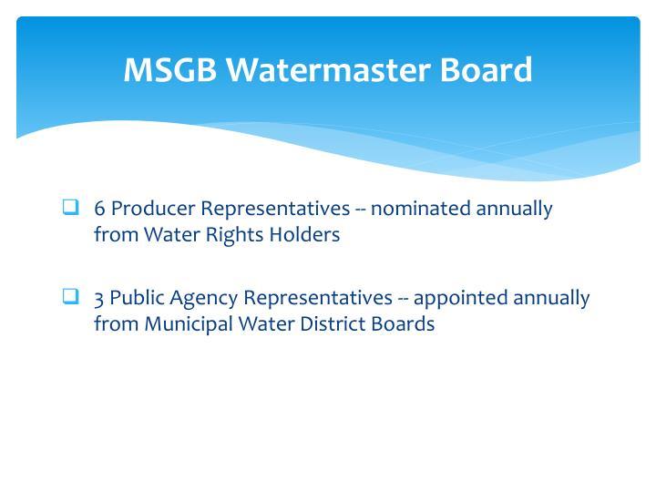 MSGB Watermaster Board