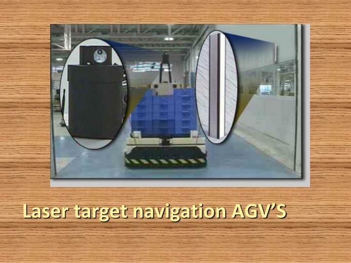 Laser target navigation AGV'S