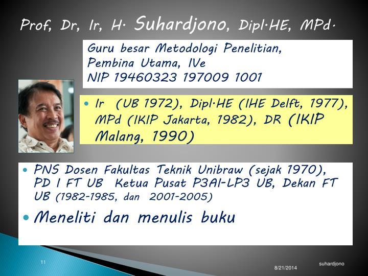 Prof, Dr, Ir, H.