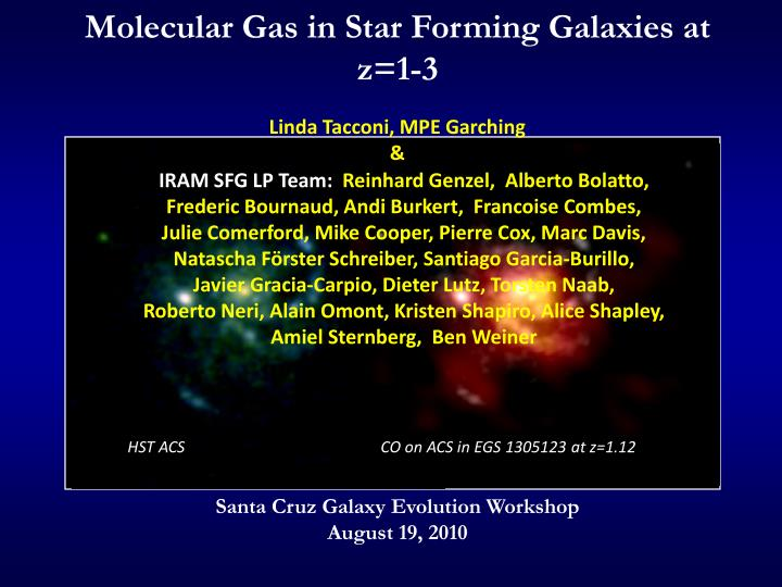 Molecular gas in star forming galaxies at z 1 3