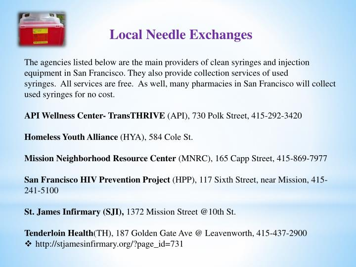 Local Needle Exchanges