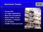 aluminium towers