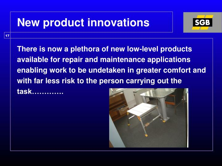 New product innovations