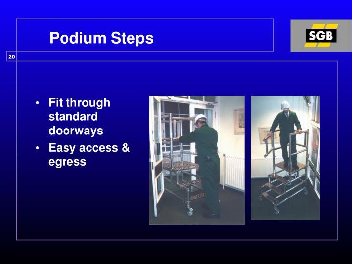 Podium Steps