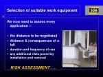 selection of suitable work equipment1