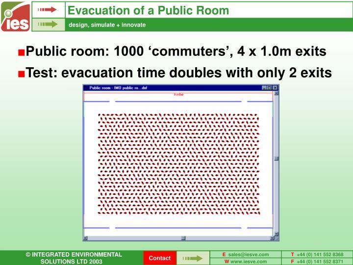 Evacuation of a Public Room