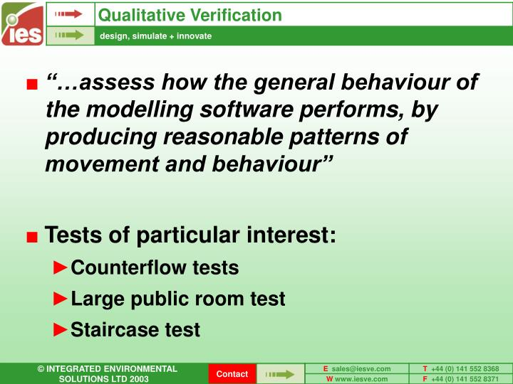 Qualitative Verification