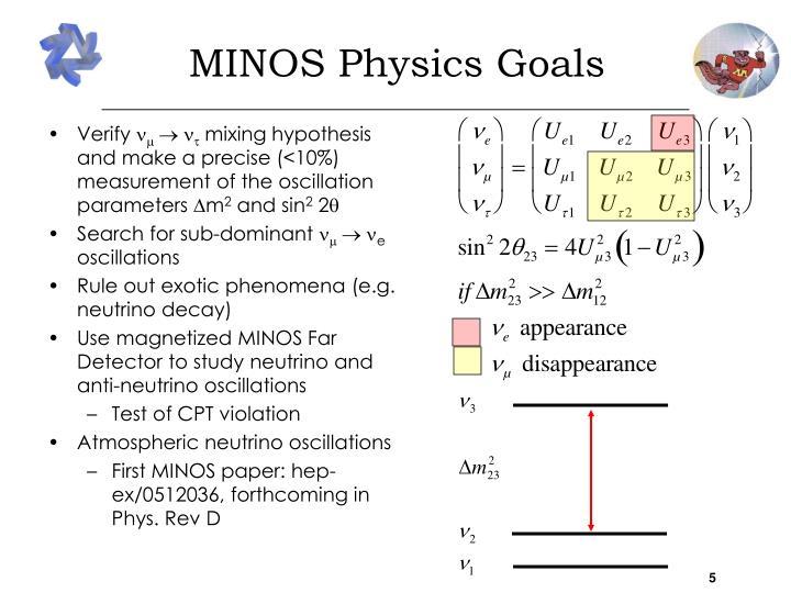 MINOS Physics Goals