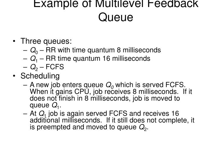 Example of Multilevel Feedback Queue